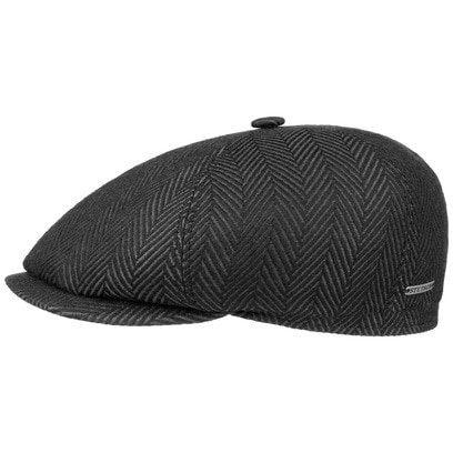 Stetson 6-Panel Herringbone Flatcap Schirmmütze Mütze Wintercap Wollcap Wintermütze Schiebermütze - Bild 1