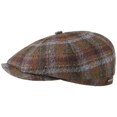 Stetson Hatteras Wool Check Flatcap Schirmmütze Wollcap Ballonmütze mit Kaschmir Mütze Cap - Bild 1