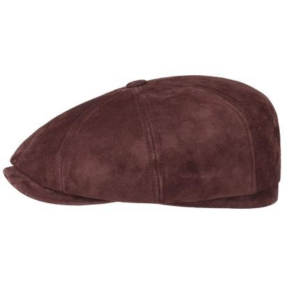 Stetson Hatteras Nubuk Pigskin Flatcap Schirmmütze Ledercap Ledermütze Ballonmütze Cap Mütze