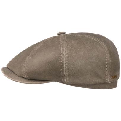 Stetson Hatteras Lammleder Flatcap Lambskin Schirmmütze Ledermütze Ledercap Ballonmütze Mütze - Bild 1