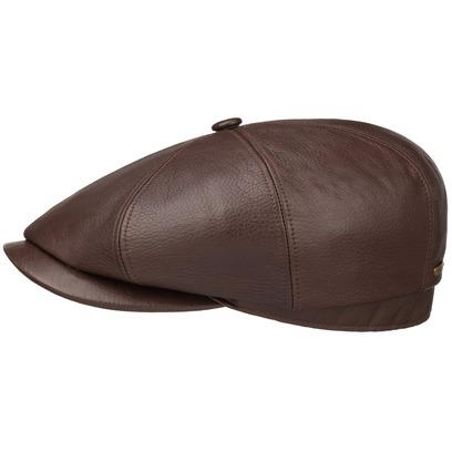 Stetson Hatteras Lambskin Flatcap Schirmmütze Mütze Ledermütze Ledercap Ballonmütze - Bild 1