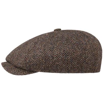 Stetson 8-Panel Harris Tweed Flatcap Mütze Schirmmütze Ballonmütze Wollcap Wintermütze - Bild 1