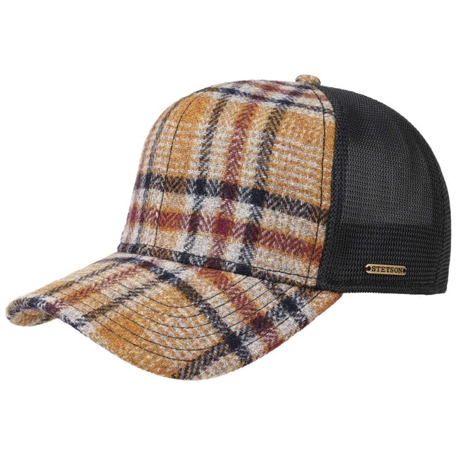 Stetson Woolrich Check Trucker Cap Truckercap M...