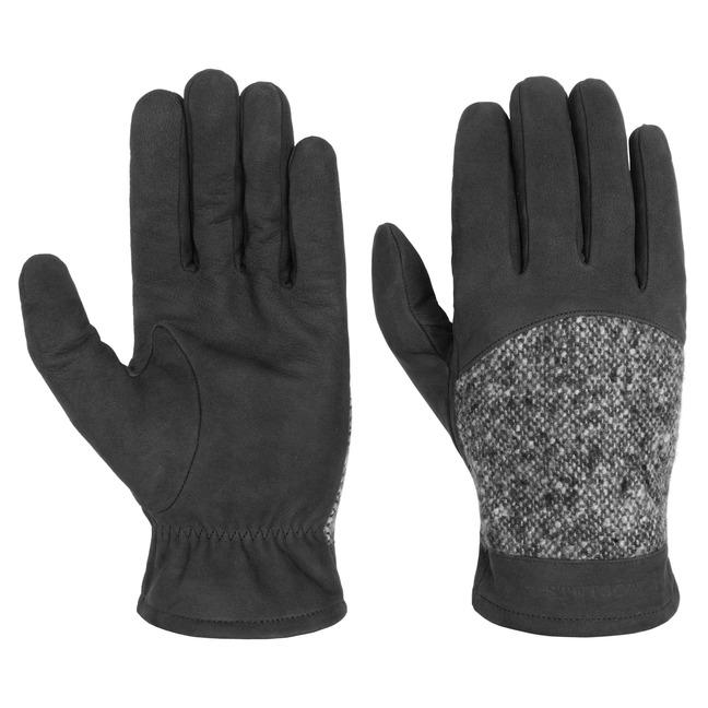 Stetson Lederhandschuhe mit Schurwolle Handschu...