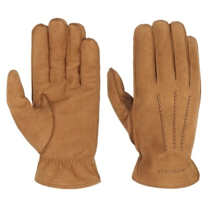 Stetson Soft Nubuk Lederhandschuhe Handschuhe Herrenhandschuhe Fingerhandschuhe Nubukleder - Bild 1