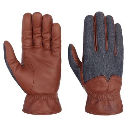 Stetson Nappa-Denim Lederhandschuhe Fingerhandschuhe Herrenhandschuhe Handschuhe Nappaleder