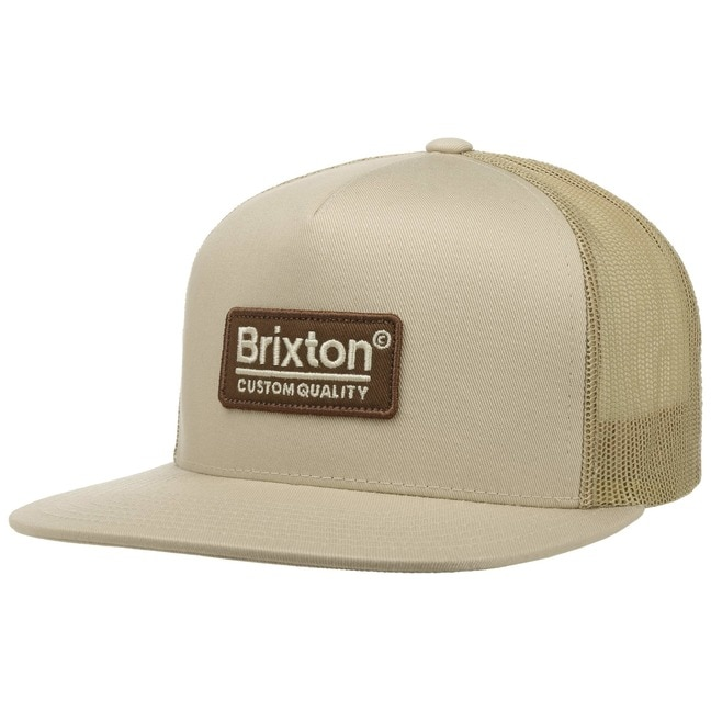 Brixton Palmer Mesh Cap Trucker Flat Brim Basec...
