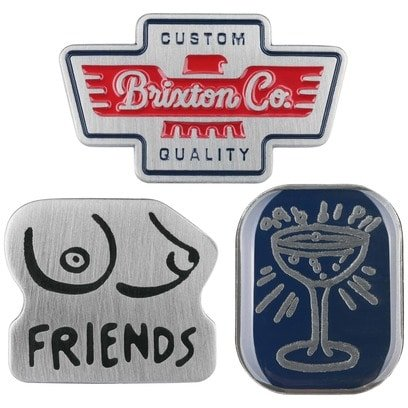 Brixton Pin Set Grail Pins Anstecker für Caps 3er Pin-Set