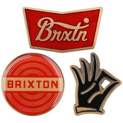 Brixton Pin Set OK Pins Anstecker für Caps 3er Pin-Set - Bild 1