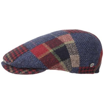 Lierys Capri Merino Patchwork Flatcap Schirmmütze Wollcap Wintermütze Wintercap Schiebermütze - Bild 1