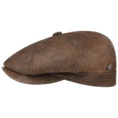 Lierys City Nappaleder Flatcap Schirmmütze Ledercap Ledermütze Schiebermütze Mütze Cap Kappe
