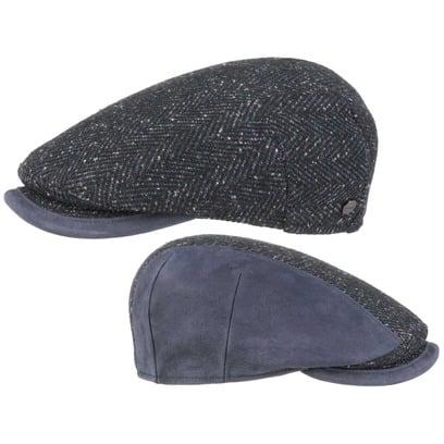Lierys Capri Leather Peak Flatcap Schirmmütze Wintermütze Schiebermütze Mütze Wollcap - Bild 1