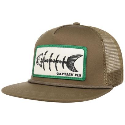 Captain Fin Fishbones Trucker Cap Basecap Baseballcap Meshcap Snapback Cap Flatbrim Cap - Bild 1