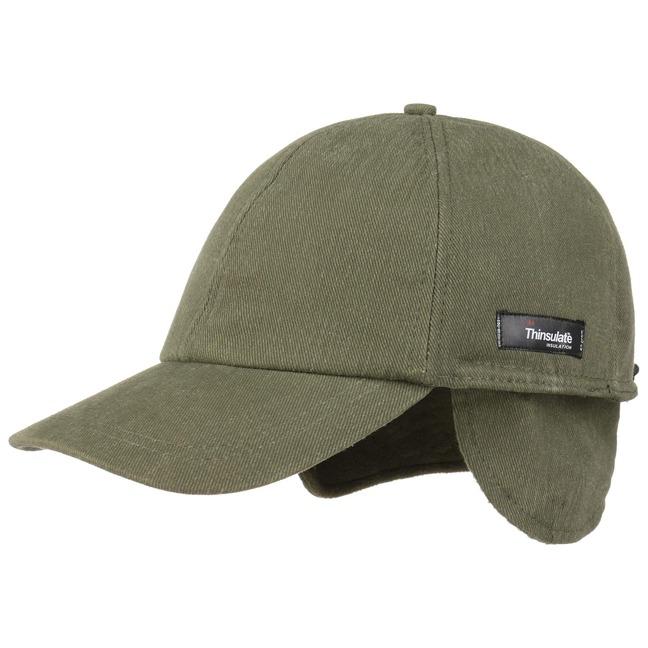 Lipodo Thinsulate Cap mit Ohrenklappen Basecap Baseballcap Wintercap Ohrenschutz