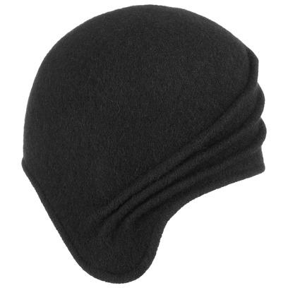Lipodo Nobila Asymmetrische Walkmütze Damenmütze Wintermütze Wollmütze Mütze - Bild 1