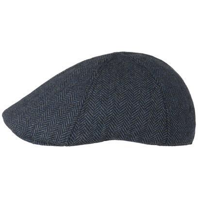 Lipodo Herringbone Flatcap Schirmmütze Schiebermütze Schnabelmütze Wintercap Wollcap Cap Mütze