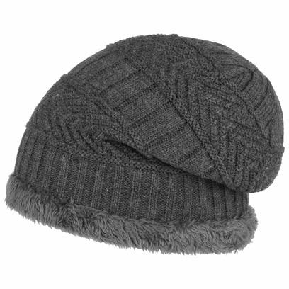 Lipodo Beanie mit Teddyfutter Wintermütze Damenmütze Mütze Strickmütze - Bild 1