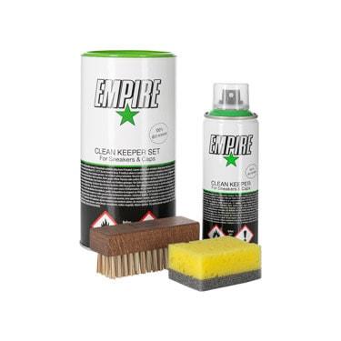 Empire Clean Keeper Set Spray mit Bürste und Schwamm Pflegemittel Pflegespray Cap-Pflege - Bild 1