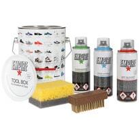 Empire Caps and Sneakers Toolbox Pflegeprodukte für Basecaps Reinigungsset Sprays Bürste Schwamm - Bild 1