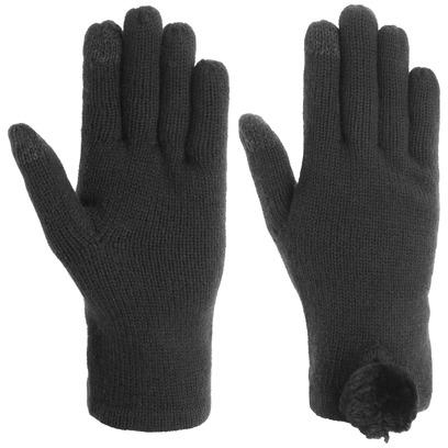 UGG Touch Strickhandschuhe mit Bommel Handschuhe Damenhandschuhe Fingerhandschuhe - Bild 1