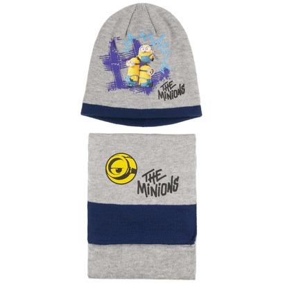Minions Beanie & Schal Mütze Kindermütze Wintermütze Kinderschal Strickschal - Bild 1