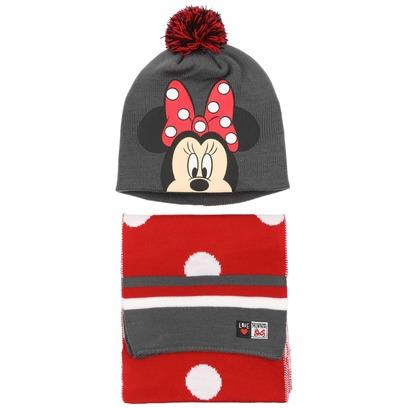 Minnie Mouse Mütze & Schal Kindermütze Disney Beanie Kinderschal Strickschal - Bild 1