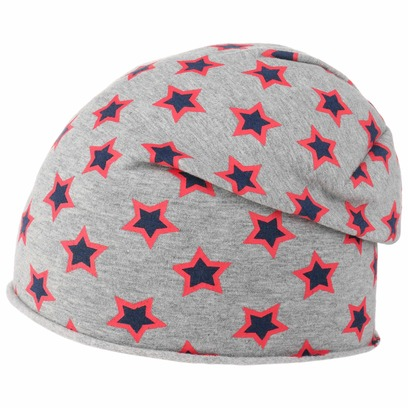 Lipodo Double Stars Beanie Kindermütze Mütze Strickmütze Oversize-Mütze - Bild 1
