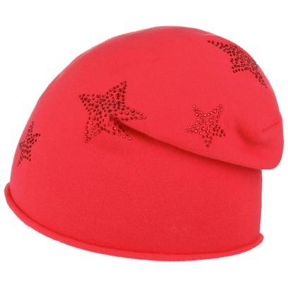 Lipodo Jersey Strass Sternchen Beanie Mütze Strickmütze Kindermütze - Bild 1