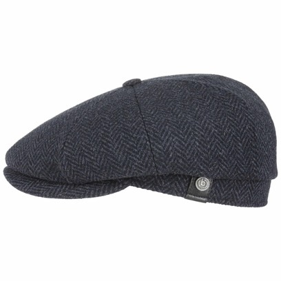 bugatti Eight Panel Wool Flatcap Schirmmütze Schiebermütze Wollcap Wintercap Wintermütze