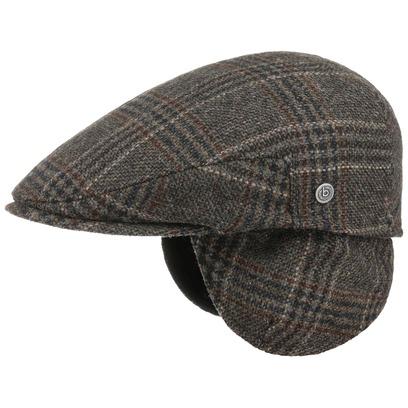 Bugatti Winston Flatcap mit Ohrenklappen Schirmmütze Schiebermütze Wintercap Wollcap - Bild 1