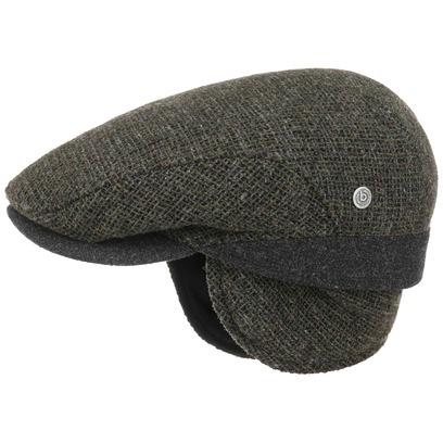 bugatti Wool Melange Flatcap mit Ohrenklappen Schirmmütze Schiebermütze Ohrenschutz Wollcap