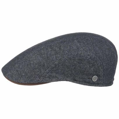 Bugatti Denim Flatcap mit Lederschirm Schirmmütze Baumwollcap Wollcap Schiebermütze Mütze Cap - Bild 1