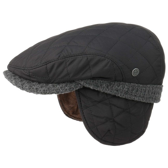 bugatti Style-Mix Flatcap Ohrenklappen Schirmmütze Schiebermütze mit Ohrenschutz Cap