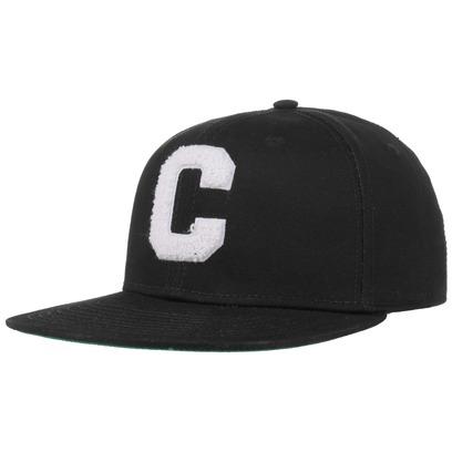 Converse Chenille C Snapback Cap Basecap Baseballcap Flat Brim Kappe Baumwollcap