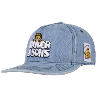 Cayler & Sons Garfield Denim Cap Baseballcap Basecap Strapback Baumwollcap Comic - Bild 1