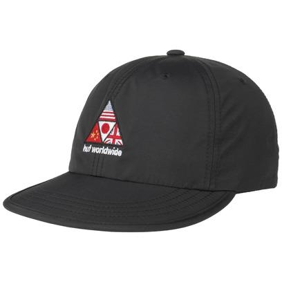 HUF Offsides Worldwide Strapback Cap Flat Brim Basecap Baseballcap Nyloncap Foldable
