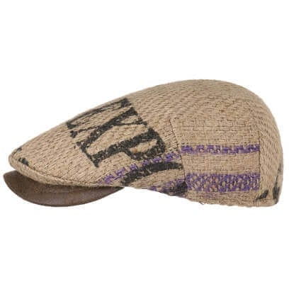Lierys Capri Bic Flatcap mit Lederschirm Schirmmütze Jutecap Sommercap Schiebermütze Ledervisor - Bild 1