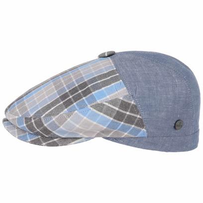 Lierys Spicchi Flatcap mit Karomuster Schirmmütze Schiebermütze Leinencap Sommercap - Bild 1