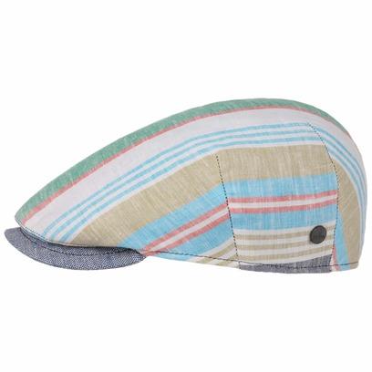 Lierys Capri Bic Leinen Stripes Flatcap Schirmmütze Schiebermütze Leinencap Sommercap - Bild 1