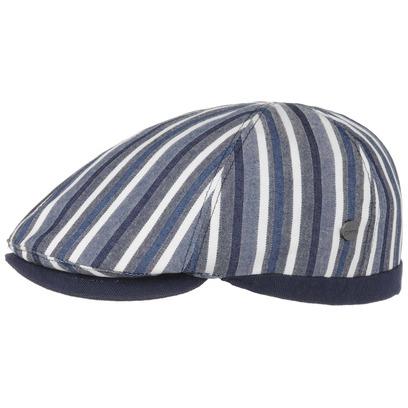 Lierys Gatsby Sailor Stripes Flatcap Baumwollcap Schirmmütze Schiebermütze Sommercap - Bild 1