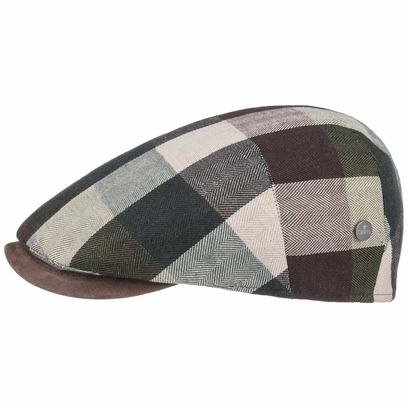 Lierys Capri Bic Plaid Flatcap Baumwollcap Schirmmütze Schiebermütze Sommercap Leinencap - Bild 1