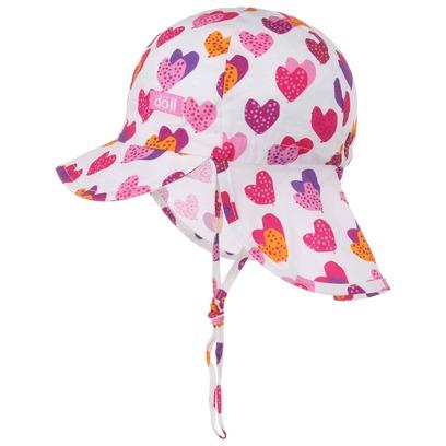 Döll Herzi Bindemütze mit Nackenschutz Sonnencap Kindercap Sommercap Strandcap Sommermütze - Bild 1