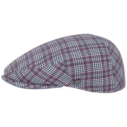 Lierys Jeffers Check Flatcap Schirmmütze Schiebermütze Leinencap Sommercap - Bild 1