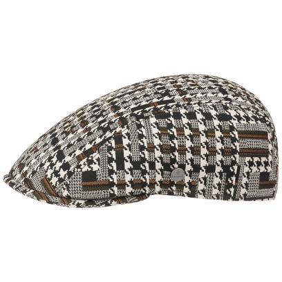 Lierys Houndstooth Stripe Flatcap Baumwollcap Schirmmütze Schiebermütze Sommercap - Bild 1