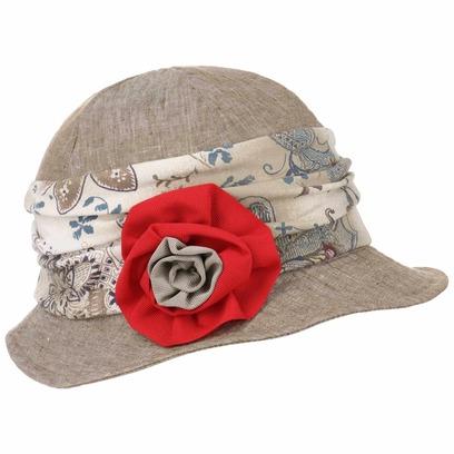 Lierys Damina Leinenglocke mit Blume Leinenhut Stoffhut Damenglocke Damenhut Sommerhut Hut - Bild 1