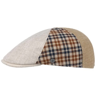 Lierys Patchwork Flatcap Schirmmütze Schiebermütze Leinencap Baumwollcap Sommercap - Bild 1