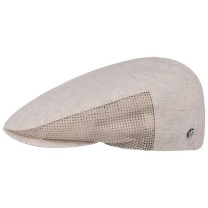 Lierys Flatcap Mesh mit Netzeinsatz Schirmmütze Schiebermütze Leinencap Sommercap Leinenmütze - Bild 1