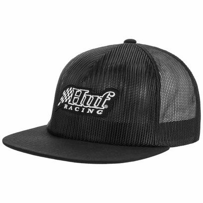 HUF Blackout Trucker Cap Meshcap Mesh Truckercap Basecap Baseballcap Snapback Flat Brim
