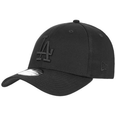 New Era 39Thirty BOB Dodgers Cap LA Los Angeles Black on Black Basecap Baseballcap Curved Brim Kappe