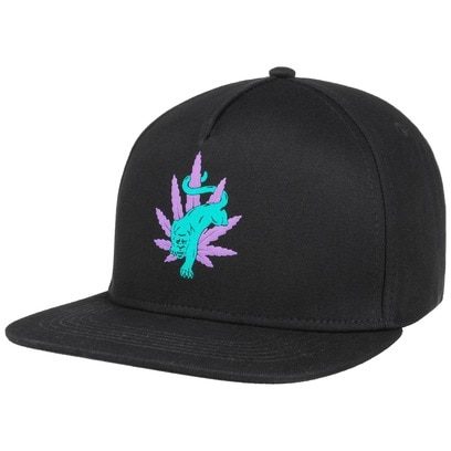 HUF Blacklight Panther Snapback Cap Baseballcap Basecap Flat Brim